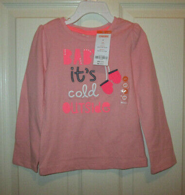 NWT Gymboree POLAR PINK Pink Baby It/'s Cold Outside Mittens L//S T-Shirt Top