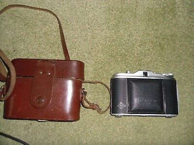 AGFA ISOLETTE  CAMERA WITH f4.5 85mm Vario   LENS + CASE