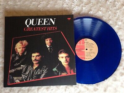 queen greatest hits lp Cile Blue Vinyl Translucent!