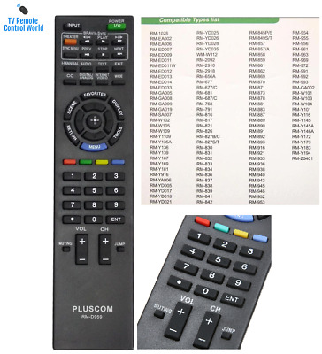 SONY Bravia TV Remote Control RM-ED0009 RM-ED-009 RMED009 Bravia LCD Controller
