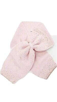 Ted Baker Pink GALEENA Bow woven scarf 11-13 Years