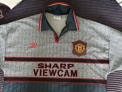 Vintage Manchester United 1995-96 Away Shirt Adults Large