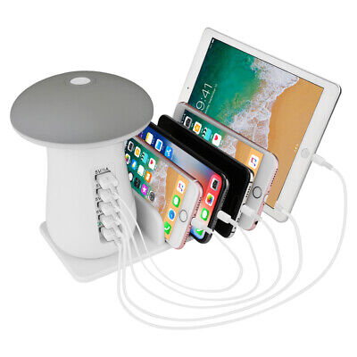 5 Ports USB Multifunktion Ladestation Ladegerät Schnell Charger iPhone Android