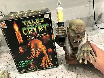 1990s Crypt Keeper Candelabra Tales From The Crypt Desk Lamp/ HORROR HALLOWEEN
