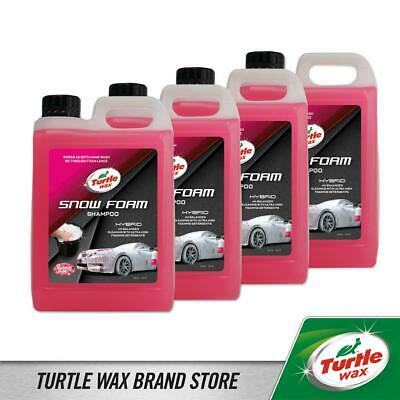 Turtle Wax Hybrid Snow Foam Shampoo Wax Sealant Protection 4x2.5L Bubble Gum