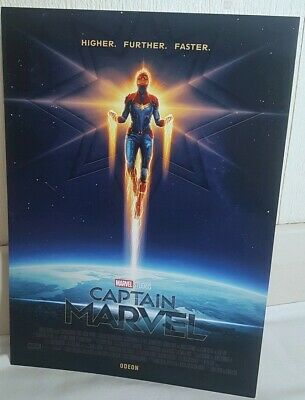 Captain Marvel A4 sized poster. Marvel Studios. Odeon Cinema. Movie and Film.