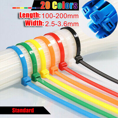 Cable Ties with Label Tag Nylon Zip Tie Multicolor Width 2.5mm 3mm L:100-200mm