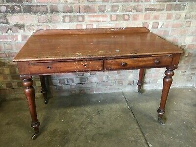 Mahogany Desk - Dressing Table - 19Th Century - Hall Table