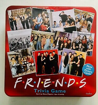 Friends TV Show 2003 Trivia Game Picture Cards in Collectible Red Tin COMPLETE