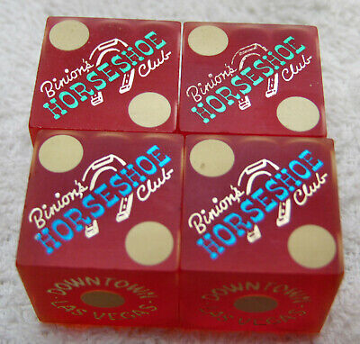 Casino Dice Binion's Horseshoe Club Las Vegas NV 2 Pair
