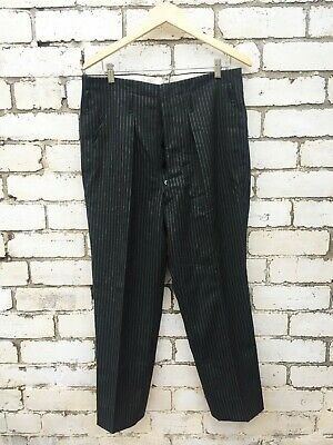 Vintage 1920s Style Sweeney Todd Dinner Trousers Pinstripe - W34