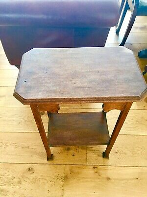 Antique Victorian Oak Occasional side table - good condition