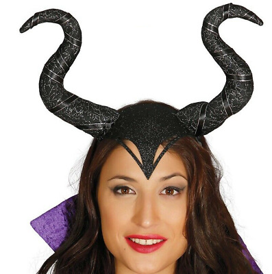 Cerchietto Corna Malefizia Maleficent Halloween Cappello Carnevale 115 19950