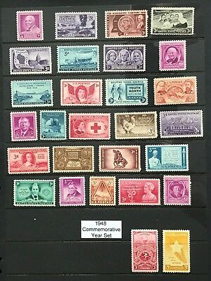 1948 US Commemorative Year Set (Complete) #953-980 MNH  FREE SHIPPING