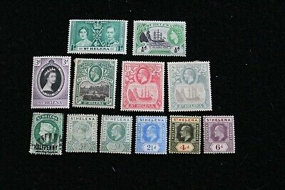 British Colonies.... St.Helena, small collection of 12 x stamps.