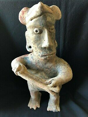 Pre-Columbian Colima Standing Warrior Figure, 100 BC - 250 AD,  LARGE!