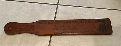 BOARD OF CORRECTION spanking spank PADDLE 1960? victums sign here Lake George NY