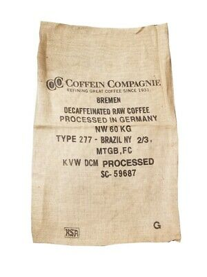 (Lot of 6) Vintage Burlap Authentic Coffee Sacks - Assorted Desings + Sizes