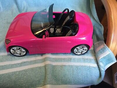 Barbie Doll Hot Pink Convertible Sports Car From 2009