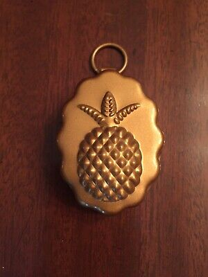 Small Pineapple Copper Butter/Candy Mold with Scalloped Edge Never Used