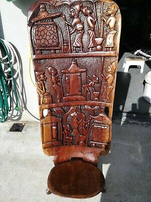 Classic Malawi chief's chair   Hand-carved,