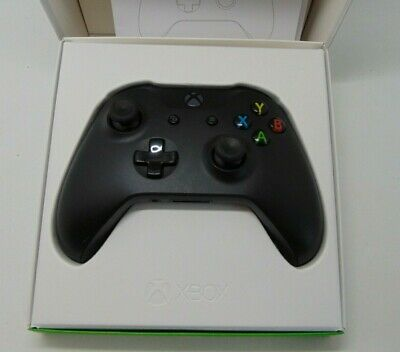 Official Microsoft Xbox One S Black Wireless Controller, 3.5 mm jack 1708 w box