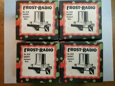 Nos Frost Radio No 618 Vintage Tube Sockets Lot Of 4