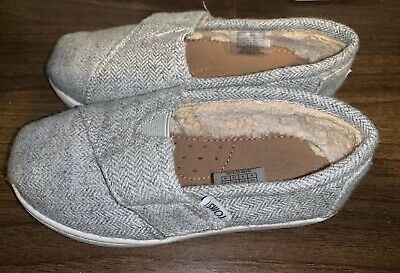 Girls Child Size 9 - Toms Shoes - Fluffy Insides