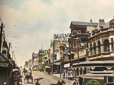 Antique Postcard-Brsbane, Fortitude Valley