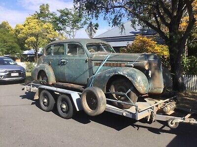 BUICK 8 1937 COMPLETE RUNNING CAR NEEDS RESTORATION Plymouth Pontiac Chev Dodge