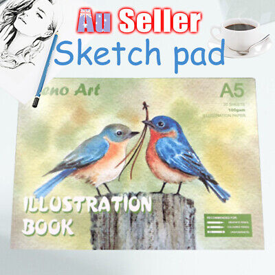 100gsm A5 Art Sketch illustration Painting Book Atrist Drawing Pad Paper Craft