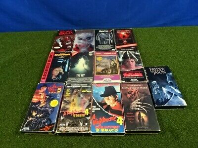 Lot of 13 VHS Horror Movies: Friday The 13th,Halloween,Nightmare, Thriller
