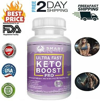 Ultra Fast Keto Boost Advanced Weight Loss Burn Fat Booster 2000MG 90 Capsules