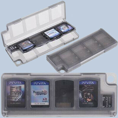 Black 8 In 1 Game Card Memory Card Case For Sony PS Vita G3M3