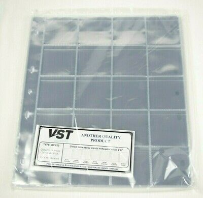 VST Coin Album Refill 20 Pocket Pages with Backing Pages - 10 Pages (RCP020)