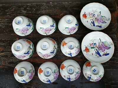 Philip's Carmel Old Estate Chinese 12x Kangxi Porcelain Teacup Bowls Asian China