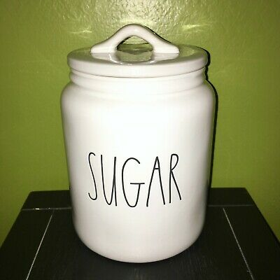 """New RAE DUNN Artisan Collection LL """"SUGAR"""" 8"""" Canister By Magenta"""