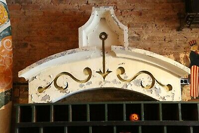 Antique Window Facade 1800's Building Architecture Gothic Corbel Tin White large