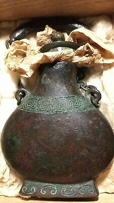 Philip's Carmel Old Estate Shang Dynasty Old Black Heavy Bronze Vase Asian China