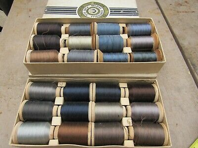 Vintage Lot of 24 Spools Belding Corticelli Pure Silk Thread new and used