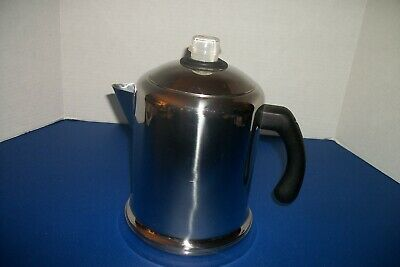Farberware Heavy Duty Stove Top Coffee Percolator Pot 4 to 8-Cup Stainless Steel