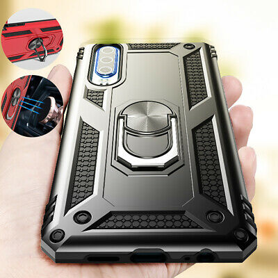 Hybrid Shockproof 360 Ring Stand Hard Case Cover For Samsung Galaxy A70 A50 S10