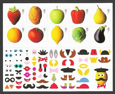 2003 Fruit & Veg - 10 x 1st Class Stamps & DIY Stickers - Unmounted Mint MNH