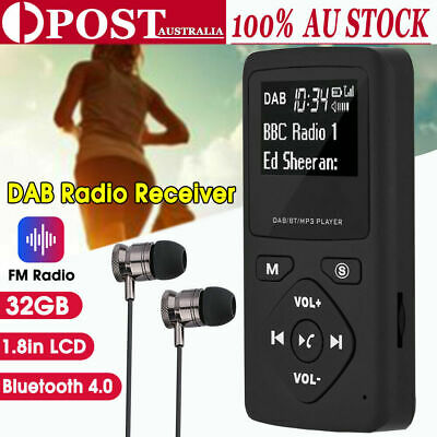 Pocket DAB Radio Portable Bluetooth FM/ USB/ MP3 Players Sports Rechargeable