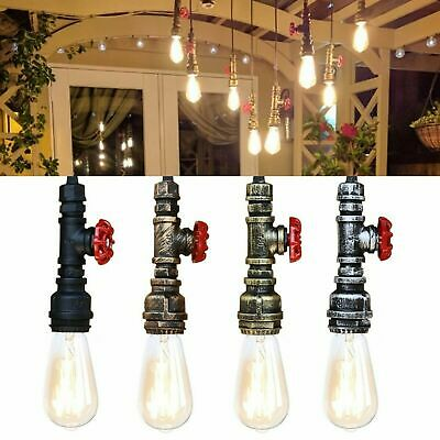 Loft Industrial  Water Pipe Steam Punk Vintage Pendant Light Valve E27
