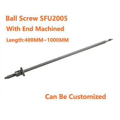 Ballscrew SFU2005 500 600 1000mm with Ballnuts with End Machined For CNC Machine