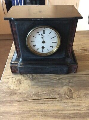 Marble  Mantle Clock For Spares Or RepIr