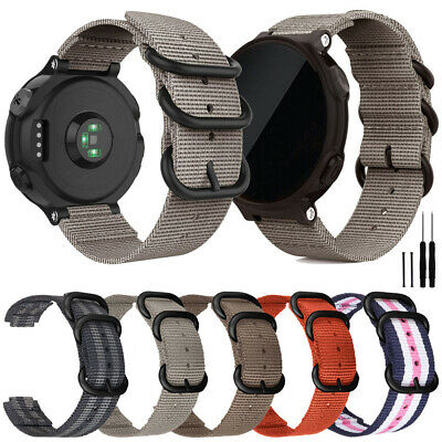 For Garmin Forerunner 735XT 220 230 235 620 630 Quick Fit Nylon Watch Band Strap