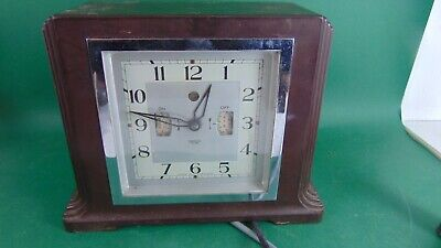 Vintage Smith's bakelite electric clock with radio timer - rare progammable