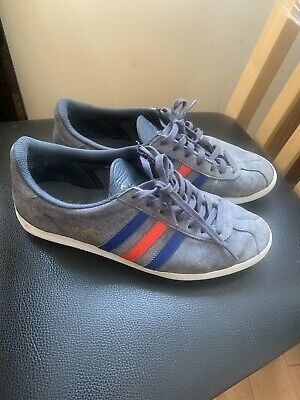 Mens Adidas Gazelle Rare Colour Way Blue/grey With Blue Red Stripe UK Size 7